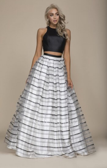 Nox Anabel Prom Dress Black and White | Bridal Aisle Boutique Minnesota